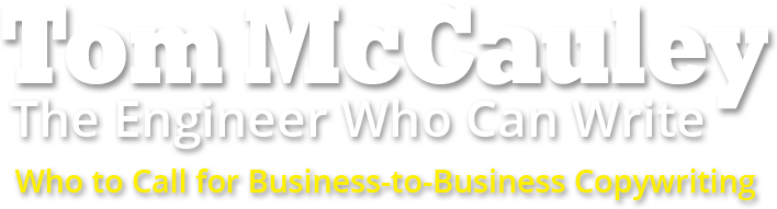 The Tom McCauley Business-to-Business Copywriting Logo